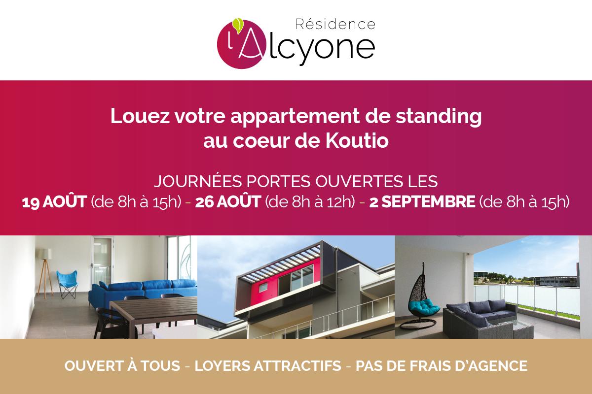 Journée portes ouvertes à la Résidence Alcyone les 19 et 26 août et le 2 septembre