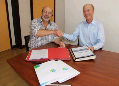 Signature d'une convention cadre de coopération  entre la SIC et l'OPT-NC